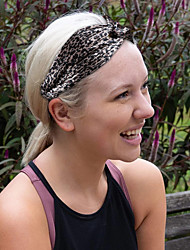 cheap -european and american new style pleated leopard print cross headband ladies european and american elastic sports headband headband hair accessories
