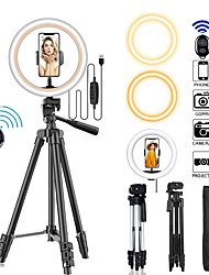 cheap -10inch Selfie LED Ring Light With Tripod Stand for MakeupDimmable Ring Lamp for Photography