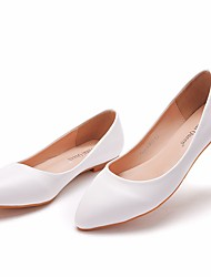 cheap -Women's Flats Flat Heel Pointed Toe Basic PU Solid Colored White