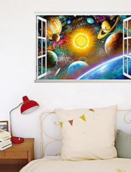 cheap -3D New Fake Window Wall Paste Dazzling Star Star Living Room Bedroom Corridor Decoration Can Be Removed Stickers