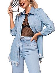 cheap -european and american cross-border autumn and winter independent station hot sale tassel loose bag hip denim jacket amazon denim jacket women