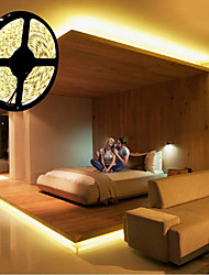 cheap -LED Strip Lights 5m Flexible 300 LEDs 5050 SMD 10mm Warm White Cold White Party Decorative Self-adhesive Equipped with RF Remote Control and Adapter Kit