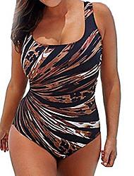 cheap -Women's Swimwear Swimsuit Light Blue coffee Black Swimwear Bathing Suits Casual