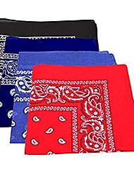 cheap -paisley design bandanas black purple blue red.