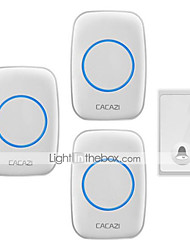 cheap -Self-powered doorbell wireless home doorbell One for three without battery waterproof learning code doorbell