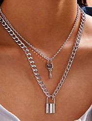 cheap -love lock necklace  key retro simple women's necklace clavicle chain