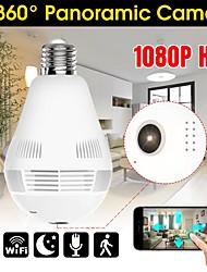 cheap -1080p wireless ip camera bulb light lamp 360 degree fish eye panoramic home camera 1.3mp night vision security p2p wifi camera