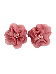 cheap -new products hot sale two chiffon four diamond beads floral children's hair clips baby hair accessories children's hair accessories wholesale