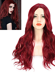 cheap -Natural Body Wavy Wig Cosplay Party Daily Synthetic Wig for Women High Density Temperature Fibre Free Cap