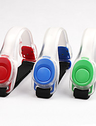 cheap -LED Running Armband Running Warning Light Reflective Wristband Outdoor Elastic With LED Casual / Daily with a Velcro Fastener Portable Luminous LED Comfy for Running Cycling / Bike Jogging Dog Walking