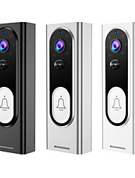 cheap -Wireless Doorbell WiFi Video Smart Talk Door Ring Security HD Camera Bell Single machine with 32GB memory card and Ding Dong