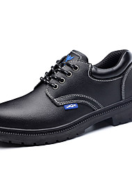 cheap -Unisex Oxfords Classic Chinoiserie Office & Career Safety Shoes Cowhide Waterproof Non-slipping Wear Proof Booties / Ankle Boots Black Spring Summer