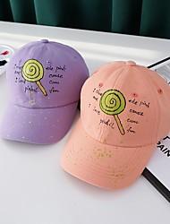 cheap -1pcs Kids / Toddler Unisex Sweet Birthday / Casual / Daily Wear Cartoon / Letter Stylish Cotton Hats & Caps White / Black / Purple S