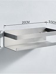 cheap -Kitchen Shelf Seasoning Rack for Kitchen Perforation-Free Wall-Mounted Single-Layer Stainless Steel Multifunctional Corner Storage