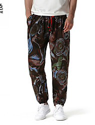 cheap -Men's Stylish Chinese Style Harem Chinos Pants Letter 1 2 3 4 5