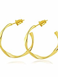 cheap -surrounded forest hoop earrings for women,stainless steel hoop earrings 18k gold plated for women girls sensitive ears30mm