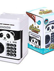 cheap -Electronic Piggy Bank, Cartoon Password ATM Savings Banks for Kids, Cute Animated Panda Piggy Bank Auto Scroll Piggy Bank for Real Money, Coin Bank Kids Fun Toy