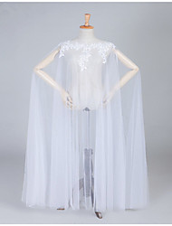 cheap -Sleeveless Elegant / Bridal Organza Wedding / Party / Evening Women's Wrap With Appliques