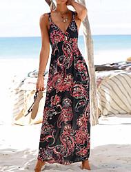 cheap -factory direct sales cross-border women's printed waist casual long skirt