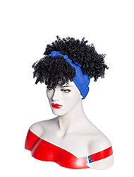 cheap -cross-border new european and american wigs new african wigs women fashion fluffy small curly hair wig turban wigs