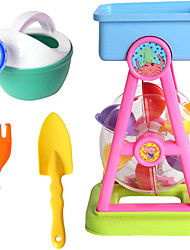 cheap -Beach Sand Toys for Kids Outdoor Play Waterwheel Beach Basics Toys Set with Shovels Rakes Sprinkler Sand Beach Bucket Toys Party Favor Pools Water Toys for Kids Birthday Gift Kids Beach Sand Toys