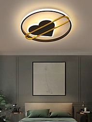 cheap -LED Ceiling Light Modern Black Gold 40/50 cm Geometric Shapes Flush Mount Lights Metal Artistic Style Heart Stylish Painted Finishes Artistic LED 220-240V