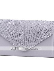 cheap -Women's Bags Polyester Evening Bag Tri-fold Crystal / Rhinestone Glitter Shine Party Wedding Event / Party Evening Bag Wedding Bags Handbags Wine Black Almond Silver