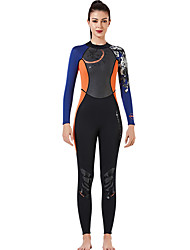 cheap -Dive&Sail Women's Full Wetsuit 3mm SCR Neoprene Diving Suit Thermal Warm Quick Dry Stretchy Long Sleeve Front Zip - Swimming Diving Surfing Solid Colored Autumn / Fall Winter Spring / Summer