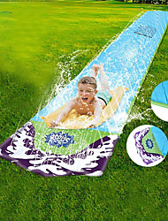 cheap -Kids Single Water Slip and Slide, Inflatable Crash Pad for Kids Children Mat Inflatable Spray Outdoor Lawn Garden Backyard Summer Water Toy Waterslide