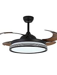cheap -LED Ceiling Fan Light 107 cm Ceiling Fan ABS Formal Style Classic Style Modern Style Black White 110V-220V 220V-240 V