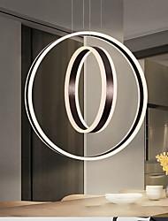 cheap -LED Pendant Light White Coffee Circle Ring Design 60 cm Geometric Shapes Circle Ring Design Aluminum Artistic Style Stylish Brushed Artistic LED 220-240V