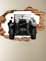 cheap -3D Broken Wall Off-road Grandpa Car Home Corridor Background Decoration Can Be Removed Stickers