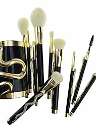 cheap -10pcs/set makeup brushes foundation concealer eyeshadow eyeliner lip blending make up maquillage & makeup brush bucket make up brushes tool kit (color : gold)
