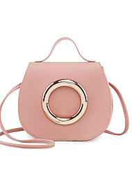 cheap -Women's Bags PU Leather Crossbody Bag Plain Classic Fashion Shopping Daily 2021 Black Red Blushing Pink Gray