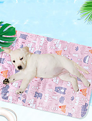 cheap -Dog Cat Dog Bed Mat Dog Cooling Mat Cooling Mat for Pet Geometric Fruit Comfort Keep Cool For Hot Summer For Indoor Outdoor Use Fabric for Large Medium Small Dogs and Cats