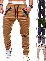 cheap -Men's Joggers Tactical Cargo Pants Pants / Trousers Sweatpants Athleisure Wear Drawstring Beam Foot Fitness Gym Workout Leisure Sports Running Thermal Warm Breathable Plus Size Sport Cream Black Grey
