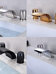 cheap -Bathtub Faucet - Contemporary Electroplated Roman Tub Ceramic Valve Bath Shower Mixer Taps