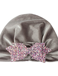 cheap -european and american new warm hat children's gold velvet sequined bow indian hat baby hat shooting props