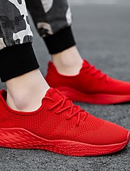 cheap -spring and summer men's extra-large size 45 fly woven mesh shoes 46 plus fertilizer widening 47 all-match small red shoes breathable running shoes