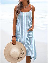 cheap -cross-border foreign trade amazon striped sling bag beach women's dress