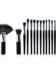 cheap -15pcs makeup brushes set professional cosmetic eyeshadow eyeliner foundation powder concealers comestic brushes(silver)