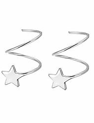 cheap -925 sterling silver star wrap earrings for women teen girls fashion cuff earrings farrydream