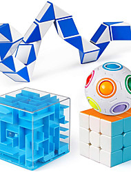 cheap -Brain Teaser Puzzle Toys 3x3 Speed Cube Rainbow Puzzle Ball Money Maze Box Fidget Snake Cube IQ Games Christmas Party Favor Gift for Kids and Adults Boy Girl