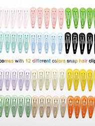 cheap -new european and american cross-border dripping oil and green onion powder hair accessories children's hairpin bangs clip bb clip 5cm60pcs set wholesale