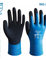 cheap -wonder grip gloves latex waterproof fully coated gloves nylon blue work gloves coldproof protection gardening gloves