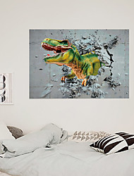 cheap -Simulation 3d Broken Wall Dinosaur Children's Room Home Background Decoration Can Be Removed Stickers