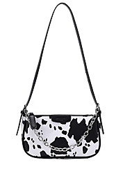 cheap -Women's Bags PU Leather Crossbody Bag Top Handle Bag Hobo Bag Date Office & Career 2021 Handbags Black / White White Black Beige