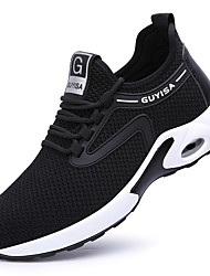 cheap -Steel Toe Cap Work Safety Shoes Fly Knitting Breathable Non-slipping Shock Absorbing Booties / Ankle Boots Black and White Black / White Black
