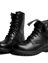 cheap -Men's Boots Combat Boots Work Boots Daily Leather Booties / Ankle Boots Black Brown Fall