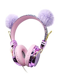 cheap -LITBest S1 Cartoon Funny Kids Headset Colorful Girl Wired Headphones Music Stereo Phone Earphones Children Christmas Gifts